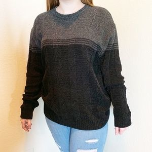 Gray & Black Color Blocked Oversized Sweater   493